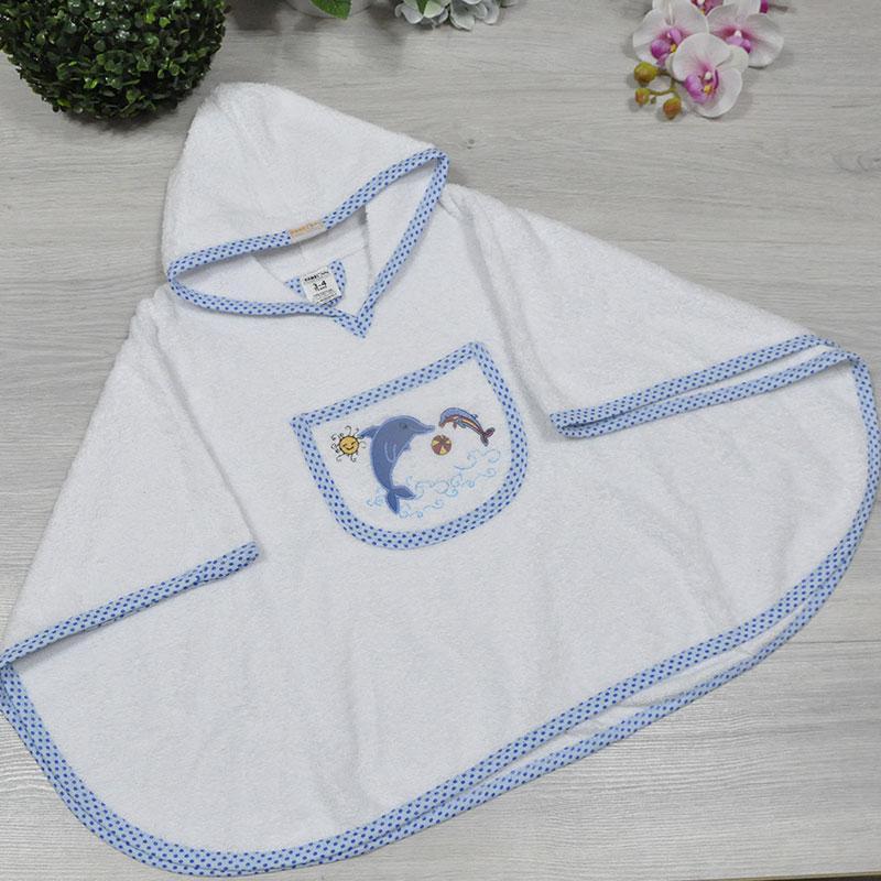 Полотенце с капюшоном для купания, махра (90% cotton, 10% micropoly), размер 1-2, 2-3, 3-4 года (3 ед в уп),