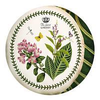 Декоративная круглая подушка пуфик с принтом Цветы и бабочки