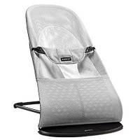 Кресло-шезлонг BABYBJORN Balance Silver/White, Mesh. Дышащая сетка