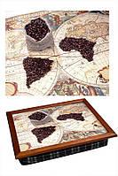 Поднос на подушке BST 040279 4436 коричневый Кофейные континенты 040279, КОД: 1404528