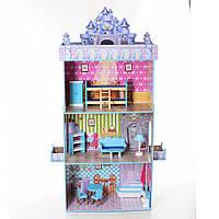 Кукольный домик, домик для кукол деревянный BAMBI MD 2410 три этажа и мебель 11/98.9