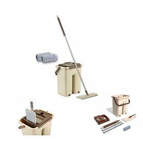 Комплект для уборки Supretto швабра с ведром и самоотжимом Бежевая 576 AK