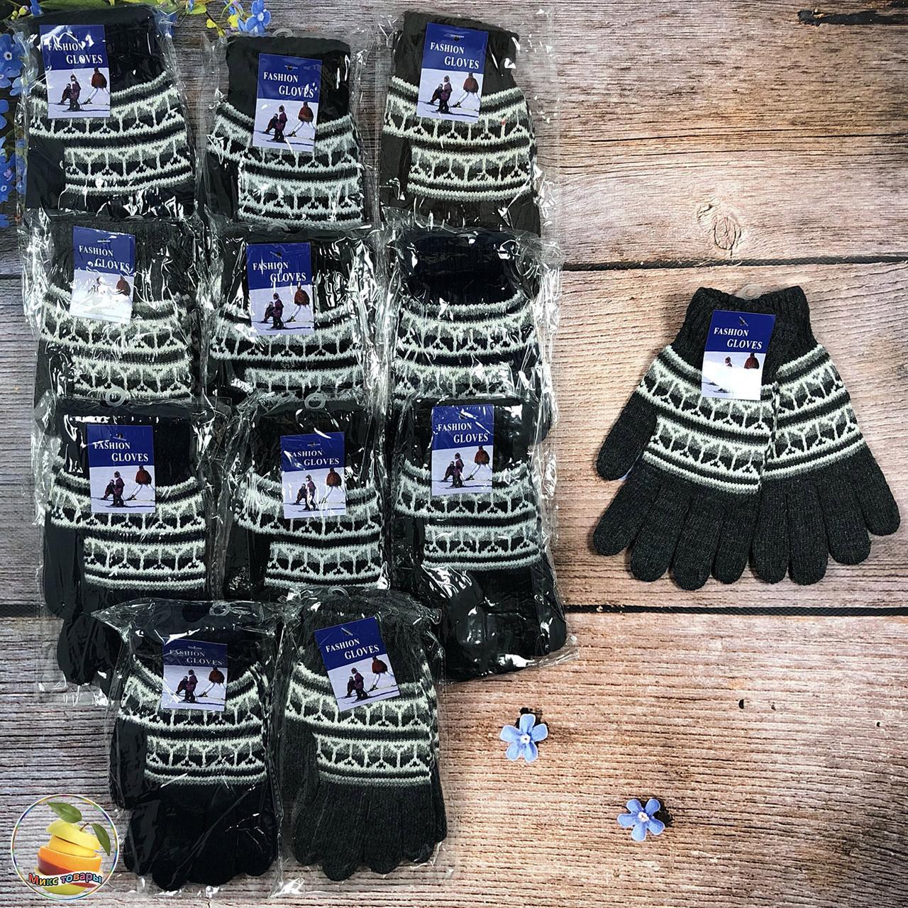 В'язані рукавички з флісом (Одинарні) Розмір: 7 - 11 і 11-15 років (20970)