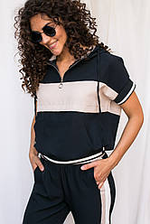 Стильный женский спортивный костюм. Цвет бежевый. Размер S, M, L