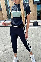 Стильный женский спортивный костюм. Цвет мятный. Размер S, M, L