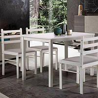 Обеденный комплект Брауни белый шоколад Латте (стол+4 стула), TM AMF