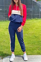 Трендовый женский спортивный костюм. Худи и джогеры. Цвет красный. Размер 36, 38, 40, 42, 44
