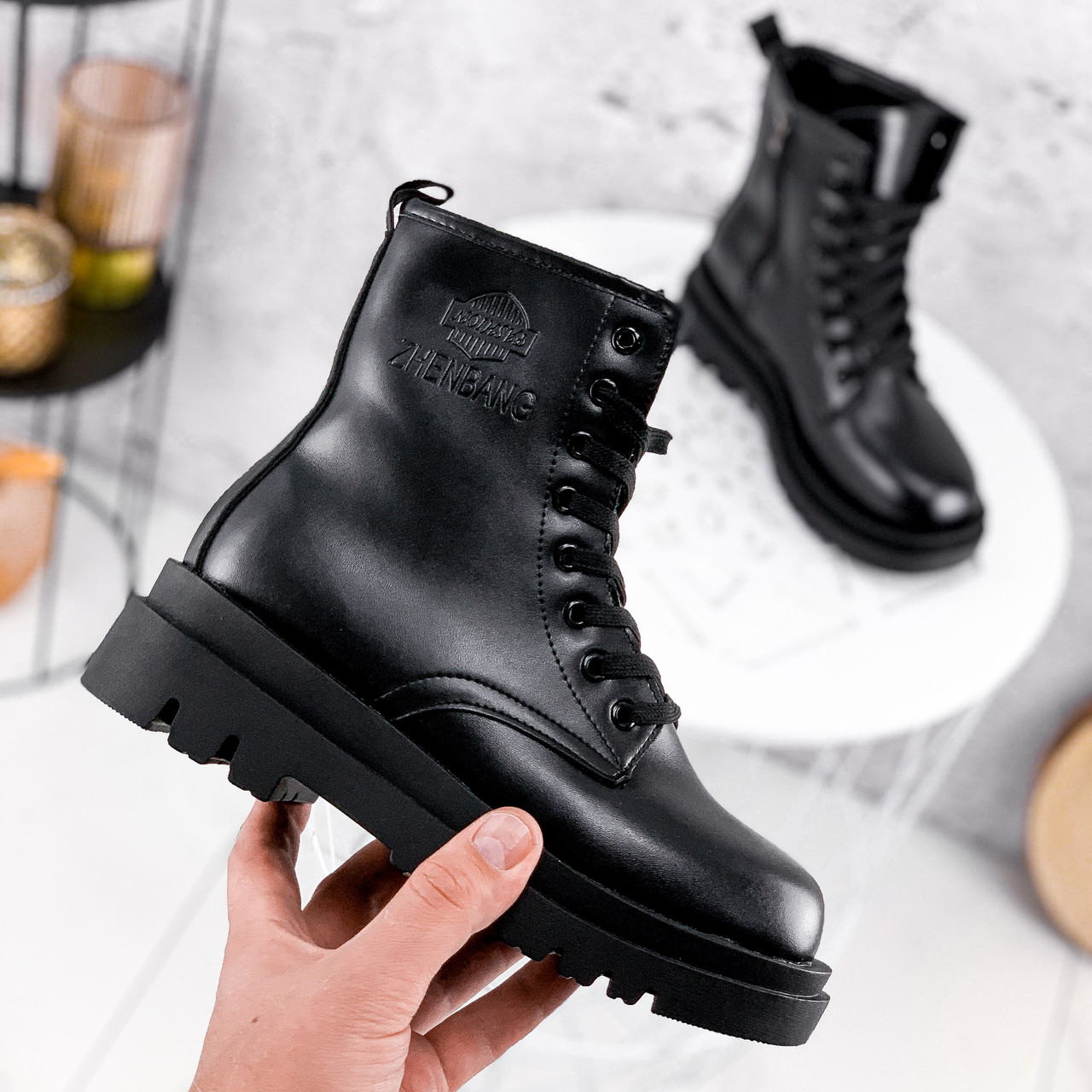 Ботинки женские Cadoc черный ЗИМА 2301