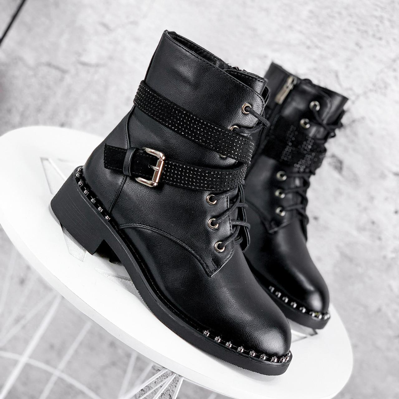Ботинки женские Denez черные ЗИМА 2313