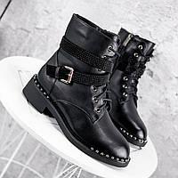 Ботинки женские Denez черные ЗИМА 2313, фото 1