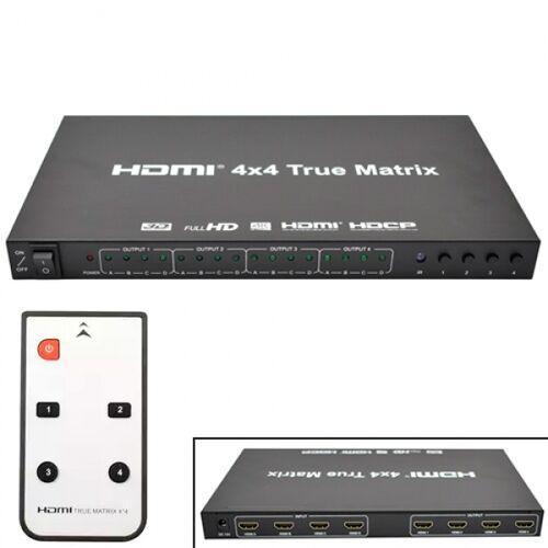 Коммутатор Hdmi 4X4 Порта, 4K, 3D, Матричный, С Пультом Ду