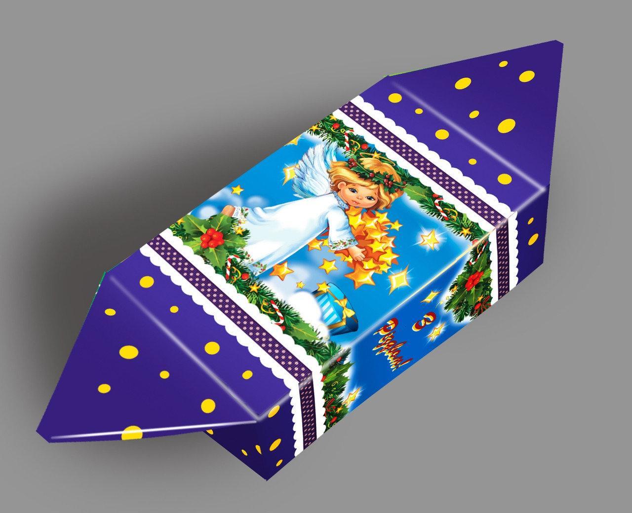 Картонная упаковка, Конфета новогодняя Рождественский Ангел, до 200г, мелкий опт