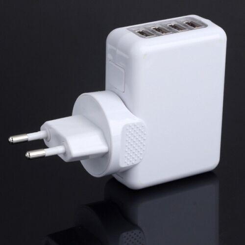 Сетевое Зарядное, 4 Usb, 5V 2.1A Для Ipad, Premium