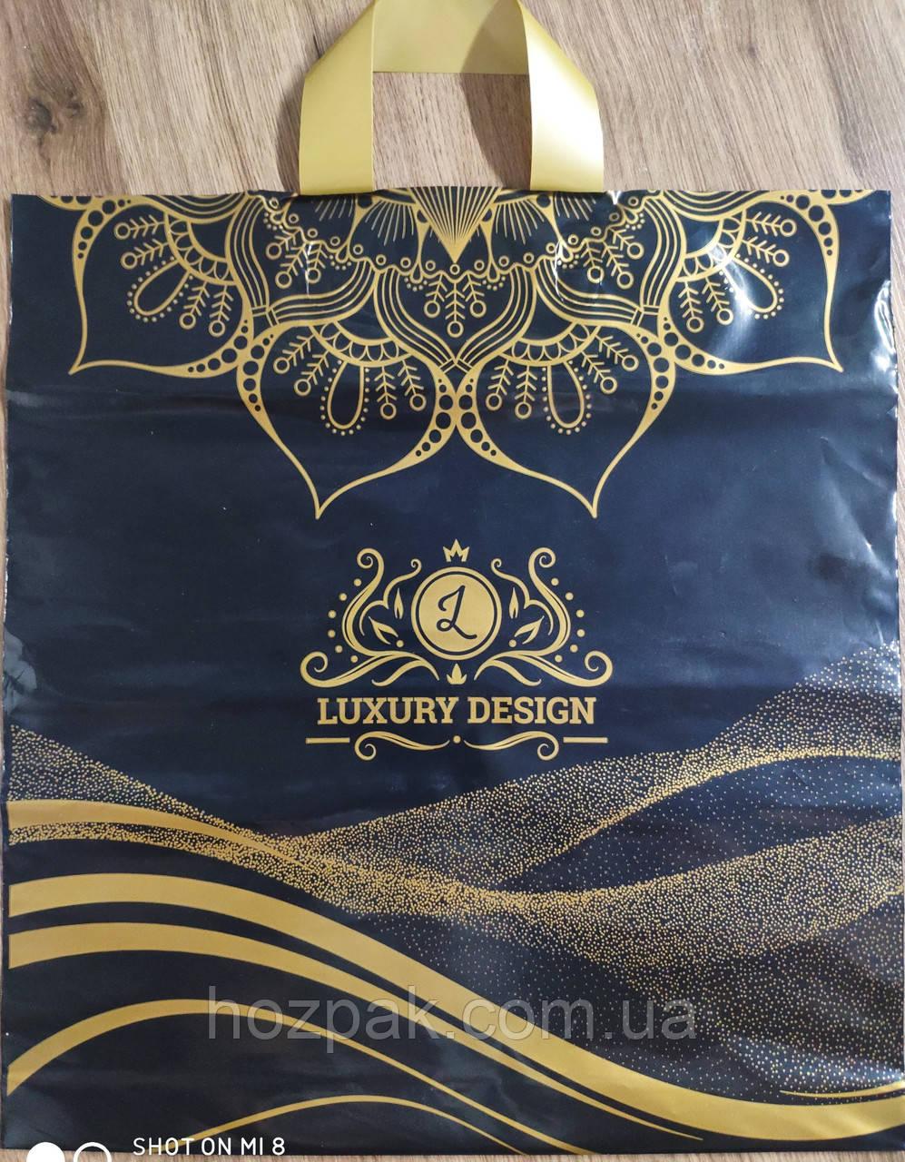 """Пакет плотный с петлевой ручкой """"Luxury"""" 36х41 см. 25шт."""