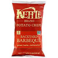 ОРИГІНАЛ!Kettle Foods,Картопляні чіпси,зі смаком барбекю 141 грам виробництва США