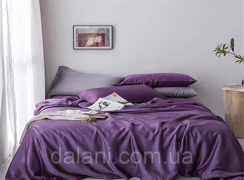 Семейный фиолетовый комплект постельного белья из сатина