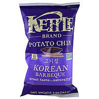ОРИГІНАЛ!Kettle Foods,Картопляні чіпси,зі смаком корейського барбекю 142 грам виробництва США