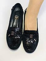 Удобные туфли на средней танкетке. Натуральная кожа. Турция. Mammamia р.39. Vellena, фото 10