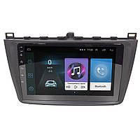 Штатная автомагнитола 9 дюймов для автомобилей Mazda 6 (2015-2019г.) Android 8.1 Go 1/16 Gb Wi Fi 4G GPS AM/FM радио Bluetooth Can модуль (3610-10920)