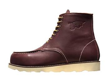 Мужские демисезонные ботинки Red Wing (Premium-class) с натуральной кожей без меха вишневый