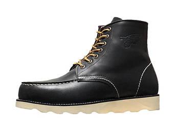 Мужские демисезонные ботинки Red Wing (Premium-class) с натуральной кожей без меха черный