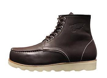 Мужские демисезонные ботинки Red Wing (Premium-class) с натуральной кожей без меха коричневый