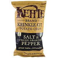 ОРИГІНАЛ!Kettle Foods,Картопляні чіпси,сіль і свіжий мелений перець 142 грам виробництва США