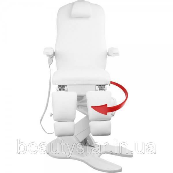 Педикюрне крісло кушетка електричне крісло для подолог колір білий 896D