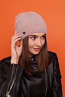 Шапка женская молодежная утепленная цвет Кофе, фото 1