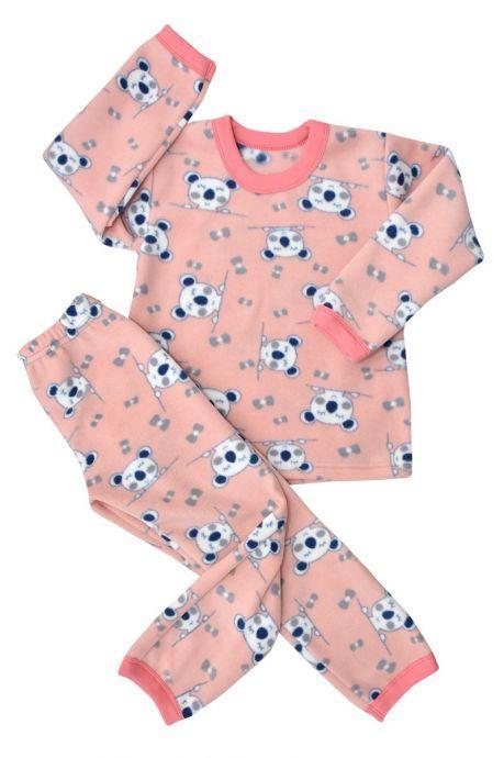 Піжама для дівчинки фліс з малюнком від 2 до 6 років