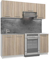 Кухня из пяти модулей (Дуб сонома 1.8 м) (кухонный гарнитур) hotdeal