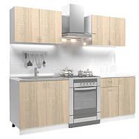 Кухонный гарнитур готовый из 4 модулей (дуб сонома) 1,6 метра hotdeal