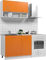 Готовая кухня маленькая оранжевая (1 метр) hotdeal