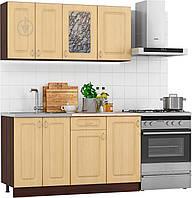 Готовая светлая модульная кухня МДФ (1,4 метра) hotdeal