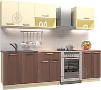Кухня модульная готовая 2 метра ваниль верх и темный низ hotdeal