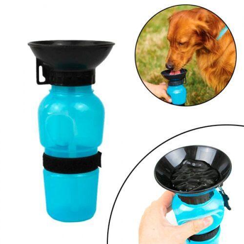 Поилка Для Собак Животных Прогулочная 500Мл, Портативная С Чашей