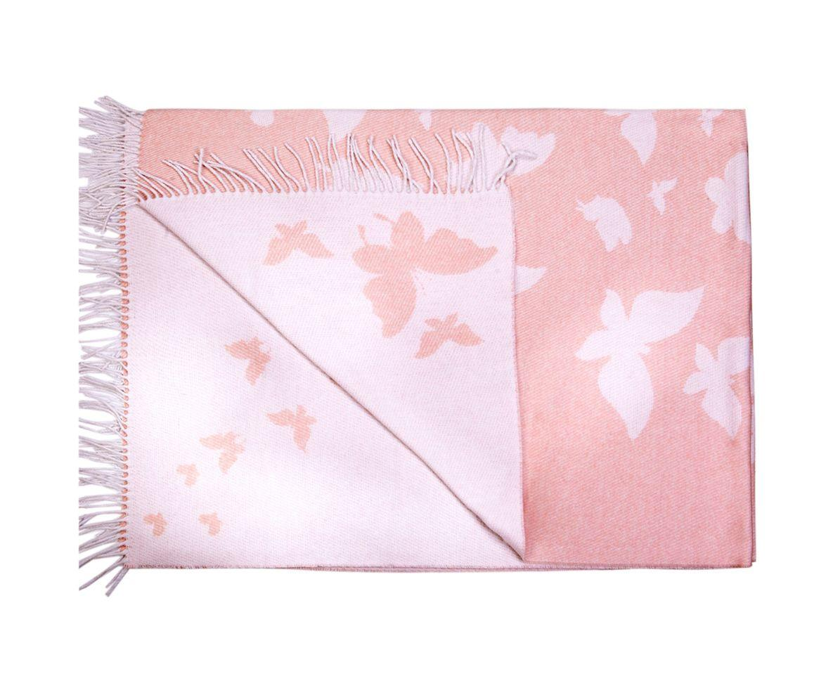Плед бавовняний 140х200 Метелики Рожевий Love You