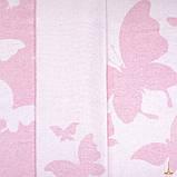 Плед бавовняний 140х200 Метелики Рожевий Love You, фото 2
