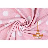 Плед бавовняний 140х200 Кулі Рожевий Love You, фото 2