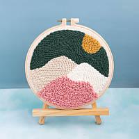 Набор для вышивания для начинающих «Горы» Jellys Размеры 20x20 cm (ВШ3)