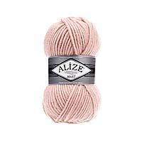 Турецкая пряжа для вязания Alize SUPERLANA MAXİ (Суперлана макси) толстая пряжа 523 кристально -розовый