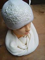 Шапочка с шарфиком зима, фото 1