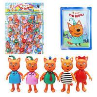 "Игрушки мульт-герои ""Три Кота"", три кота,мягкие игрушки,детские игрушки,набор"