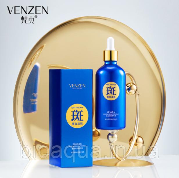 Сыворотка для лица и зоны декольте Venzen Anti-Freckle от пигментных пятен и веснушек 100 ml