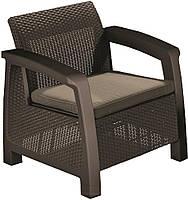 Кресло, Bahamas Duo set, коричневый - сер Keter (3253929000508)