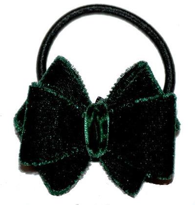 Бархатная резинка для волос - зеленая