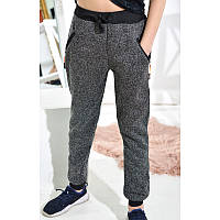 Штаны  спортивные на мальчика теплые, размер L, темно-серый.