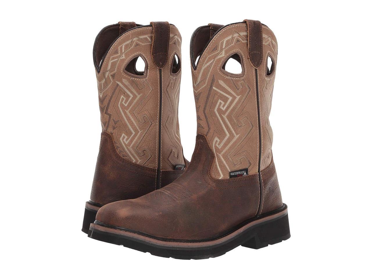 Ботинки/Сапоги (Оригинал) Wolverine Rancher Aztec Steel-Toe Wellington Work Boot Bone