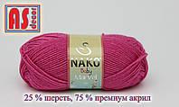 Nako Baby Marvel (25% шерсть, 75% акрил) малиновая - 50 грамм