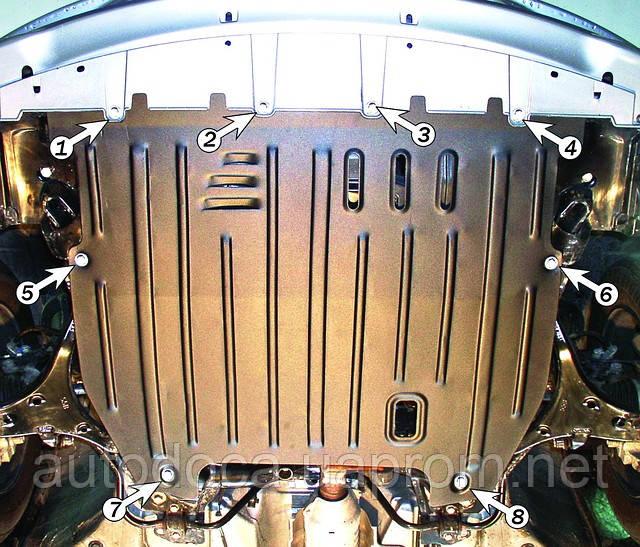 Защита картера двигателя и кпп Honda Civic 2001-